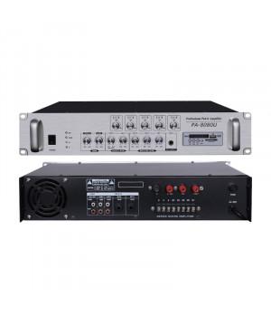 PA-8080U (5 зон; 80 Вт.) Трансляційний підсилювач SD/USB